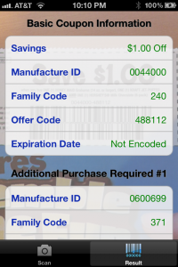 Components of the UPC Coupon Code